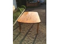 Large wooden dining table with 2 drawers