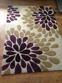 Nearly new rug £39 matching items purple, green