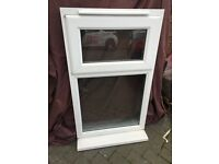 Used white Upvc Window internally glazed Work shop, shed, garden building W3