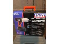 "Sealey 24v 1/2"" sq drive cordless impact wrench"
