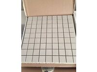 Mosaic Tiles, Italian Porcelain - colour 'almond' (beige) - £20