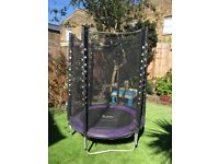 Kids plum stardust 4.5ft trampoline with enclosure