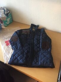 Mens large navy barber style coat.brand new just bought wrong size 30.00