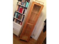 Ikea Wood and Glass Display Cabinet
