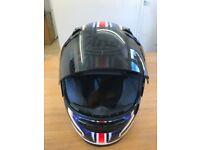 ARAI Crash Helmet with chequered flags viper GT Good condition