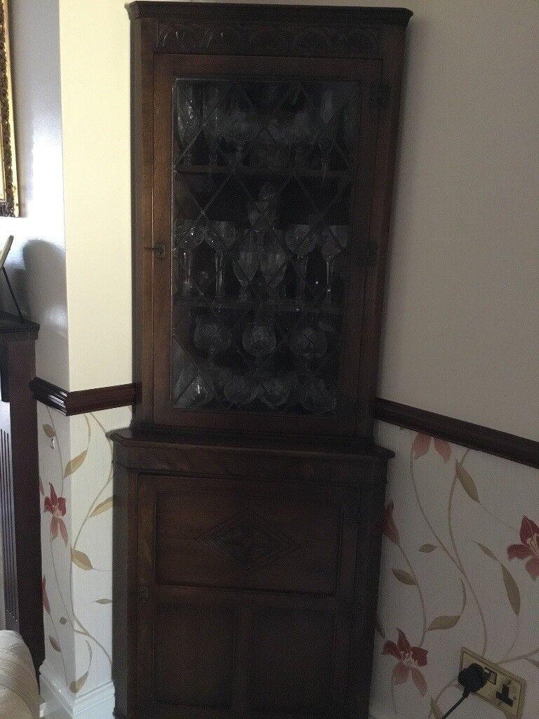 Dark oak corner unit