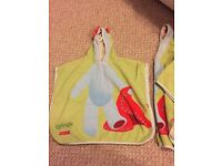 Two Mothercare Iggle Piggle Kids Towel Towelling Robes