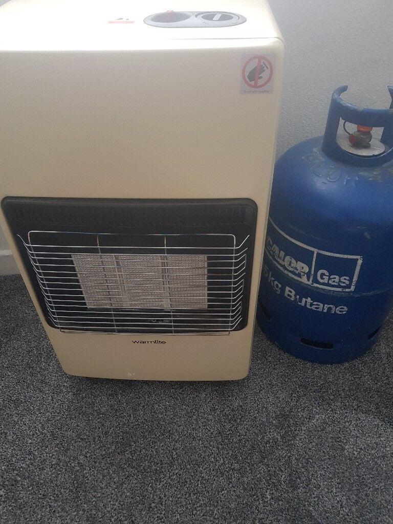 Calor gas heater with empty 15kg gas bottle