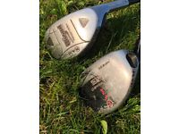 Two RAM clubs. Wizard Recovery 21 degree and SDX Chipper 37 degree. Excellent quality clubs.