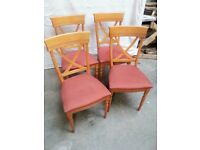 4 Dining chairs in good condition, furniture