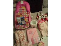 Job lot baby girls items
