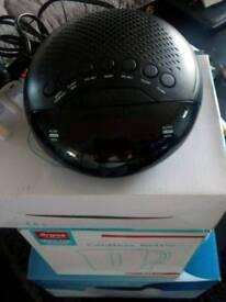 Toaster, kettle and clock alarm radio