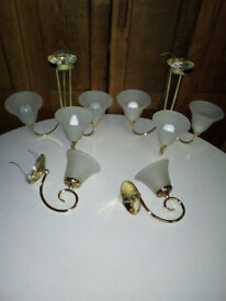 BRASS WALL AND CEILING LIGHTS