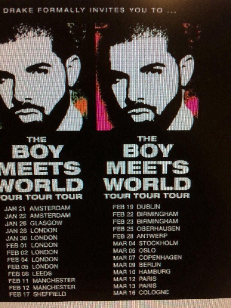 Drake Ticket Leeds Direct Arena 8/2/2017 Standing.