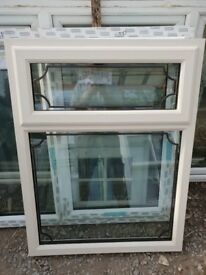 New Cream on White UPVC Window 90cm W x 117cm H
