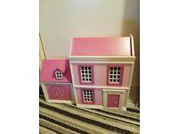 Wooden doll house & garage