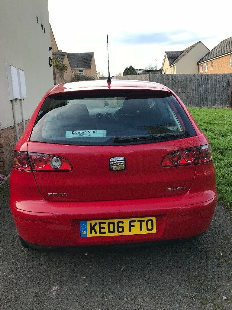 Red Seat Ibiza. Low millage. 1 lady owner. Service history available. Comes with 12 months MOT.
