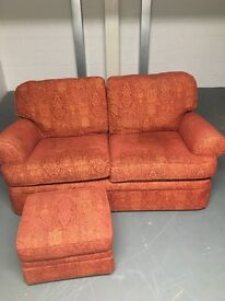 Marks and Spencer's 2 seater sofa with footstall