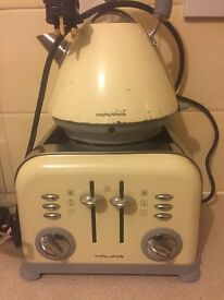 Decent condition kettle and matching toaster