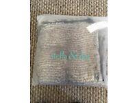 Stella & Dot Fur/Cable Knit Scarf