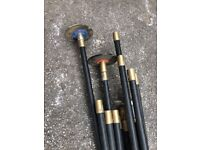 Set of drain rods
