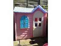 Pink little tykes house