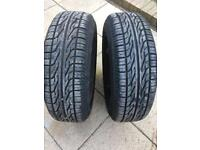 2x nearly new matching 185/65/15 tyres