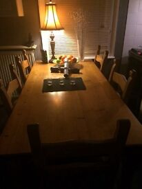 Handmade Oak Kitchen table & chairs