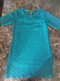 Next green dress and slip size 8