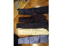 Branded TM Lewin Silk Ties Excellent Condition