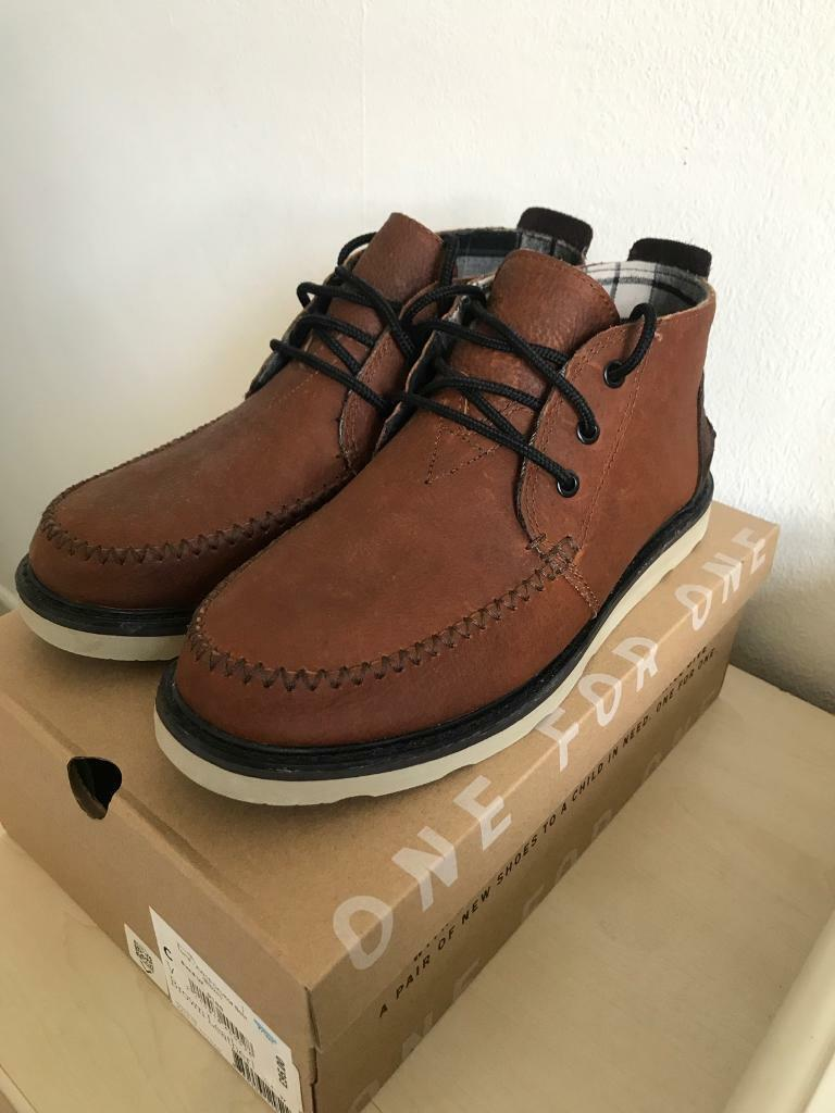Toms Brown Leather Chukka Boots Uk Size 8 In Brighton East