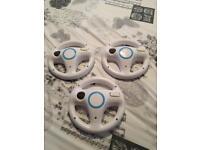 3 Wii and Wii U steering wheels