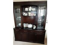 Mahogany Table & Chairs, Display cabinet, Service Trolley