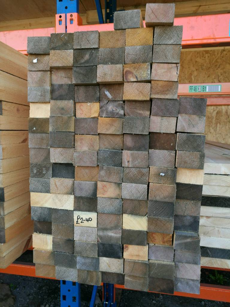 "2 1/2"" x 1 1/2"" Sawn Timber (38mm x 63mm) 2.55mtr Lengths"