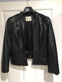 Reiss ladies leather jacket, size small