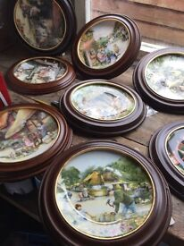 Susan Nevis royal doultan plates with wooden frames