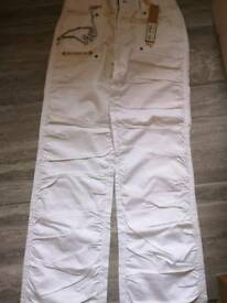Brand new white combat style trousers. Size 10