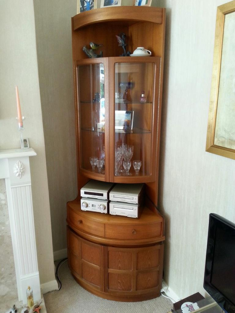 G plan corner unit display cabinet in stratford upon for G plan dining room unit
