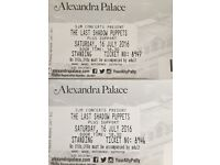 2 x Last shadow puppets tickets Alexandra palace sat 16 July
