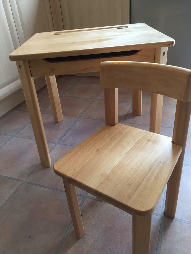 Child S Wooden Desk And Chair From John Lewis