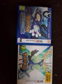 Pokemon alpha sapphire and Pokemon X