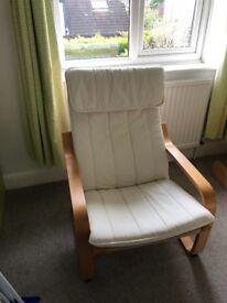 Ikea Poäng chair white