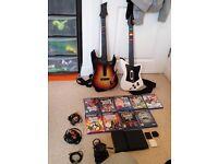 PlayStation 2 slim massive guitar hero bundle