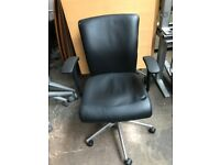 Leather Executive Office Desk Chair | Fully Adjustable