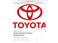 ALL TOYOTAS WANTED all considered