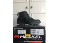 HARLOW ESSEX NEW Mens HECKEL RUN-R 400 HIGH Safety Boots Size 10 EU 44 Black Work / Industrial boots
