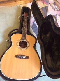 Tanglewood Nashville Acoustic Guitar TF8MKIII with hard case £120