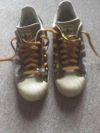 Adidas special edition superstars size 9