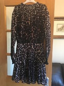 New Look Leopard Print Dress New With Tags Size 8