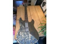 Decorative Wall Art Sequined Guitar